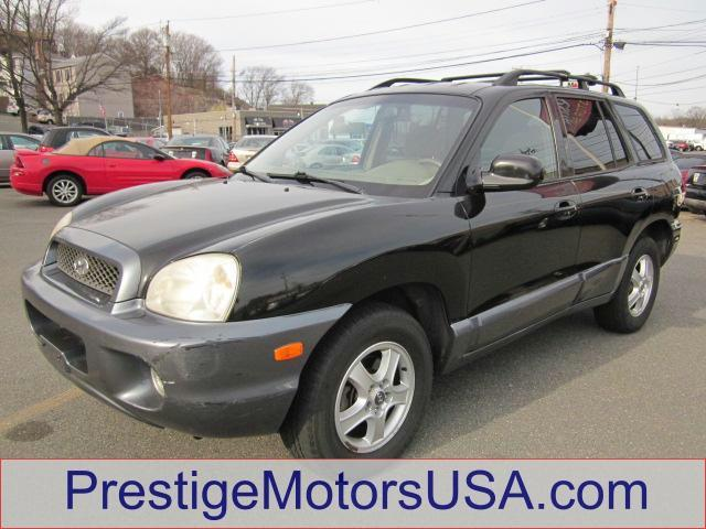 2004 HYUNDAI SANTA FE LX black obsidian - - - 2004 hyundai santa fe 4dr lx 2wd auto 35l v6  - pow