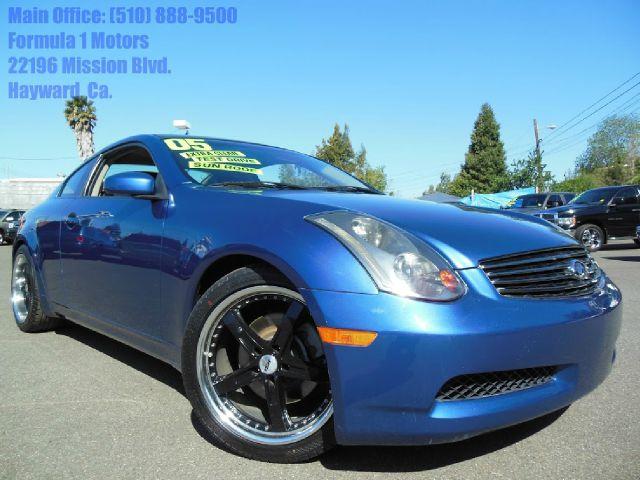 2005 INFINITI G35 COUPE blue 35l v6 automatic leather power heated seats moon roof 2 door2