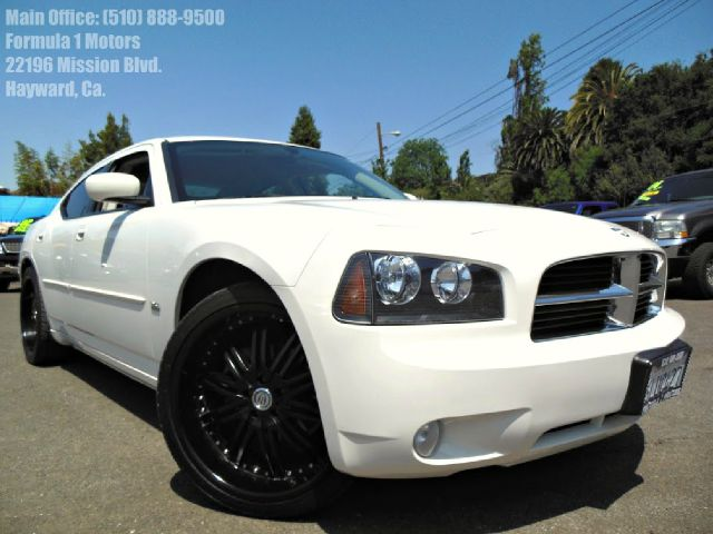 2010 DODGE CHARGER SXT white 22 black custom wheelsclean carfax abs brakesadjustabl