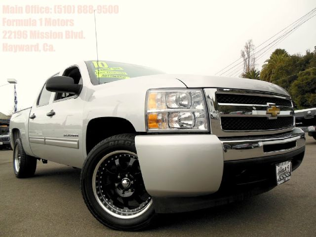 2010 CHEVROLET SILVERADO 1500 LT1 CREW CAB 2WD silver 53l v8 automatic bed liner low miles ab