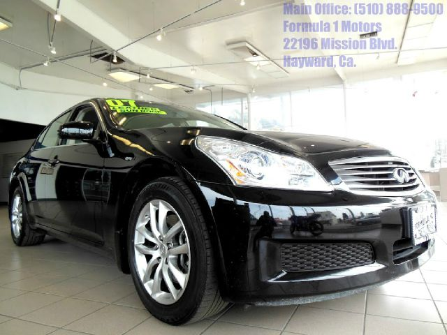 2007 INFINITI G35 V6 W NAVIGATION black 35l v6 automatic leather heated seats moon roof navi