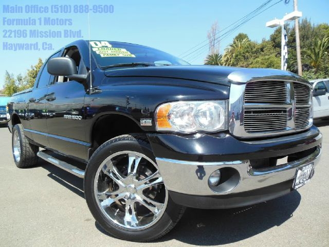 2004 DODGE RAM 1500 SLT CREW CAB  4WD black 57 l v8 hemi automatic 4x4 slt leather crew cab s