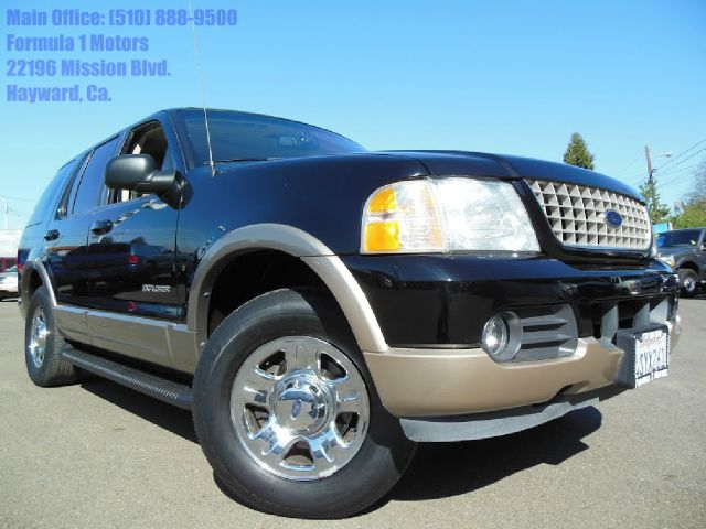 2002 FORD EXPLORER EDDIE BAUER 4WD black 46l automatic eddie bauer leather moon roof 2nd row