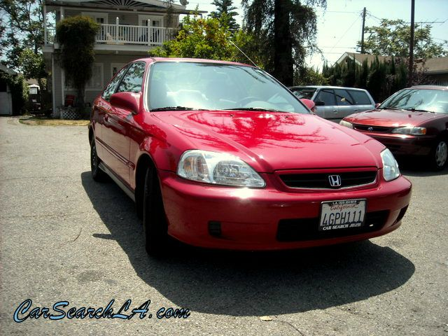 1999 HONDA CIVIC EX COUPE red private party special  1999 honda civic ex  2-door manual transmi