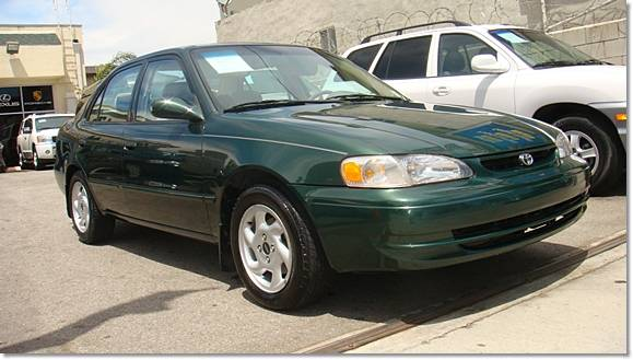 2000 toyota corolla le green 4 speed automatic los. Black Bedroom Furniture Sets. Home Design Ideas
